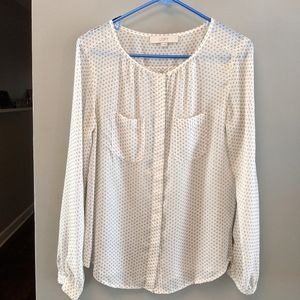 LOFT Gathered Top (SMALL)